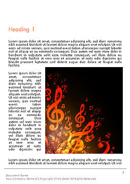 Music Explosion Word Template, First Inner Page, 14364, Art & Entertainment — PoweredTemplate.com