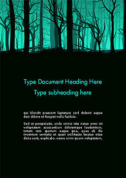 Deadwood Silhouette Word Template Cover Page