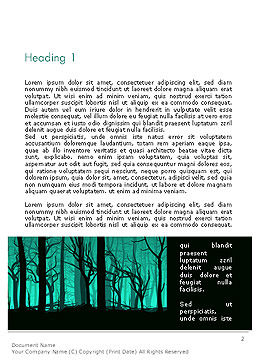Deadwood Silhouette Word Template First Inner Page