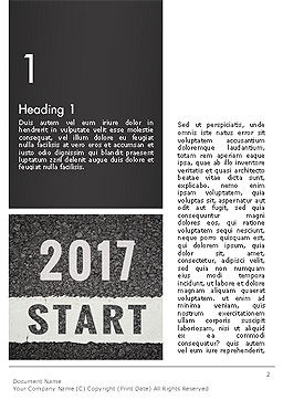 Message Start 2017 on Asphalt Road Word Template, First Inner Page, 14367, Business Concepts — PoweredTemplate.com