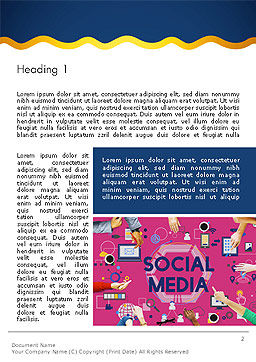 Social Media Technology Innovation Concept Word Template, First Inner Page, 14370, Careers/Industry — PoweredTemplate.com