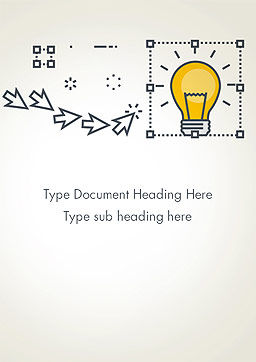 Idea Selection Word Template, Cover Page, 14372, Business Concepts — PoweredTemplate.com
