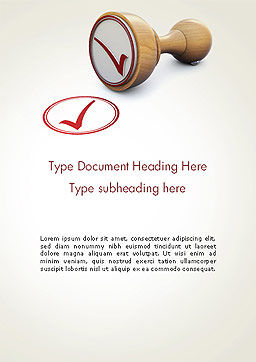 Checked Rubber Stamp Word Template, Cover Page, 14378, Business Concepts — PoweredTemplate.com