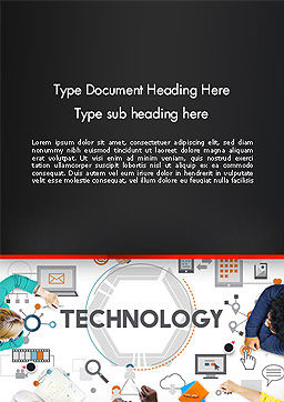 Innovative Business Technology Word Template, Cover Page, 14379, Technology, Science & Computers — PoweredTemplate.com