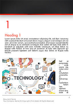 Innovative Business Technology Word Template, First Inner Page, 14379, Technology, Science & Computers — PoweredTemplate.com