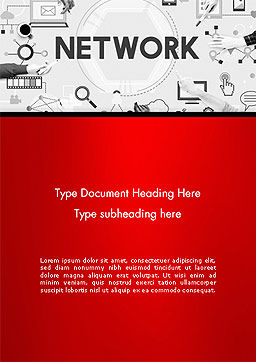 Network Communication Connection Word Template, Cover Page, 14381, Technology, Science & Computers — PoweredTemplate.com