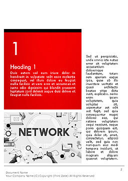 Network Communication Connection Word Template, First Inner Page, 14381, Technology, Science & Computers — PoweredTemplate.com