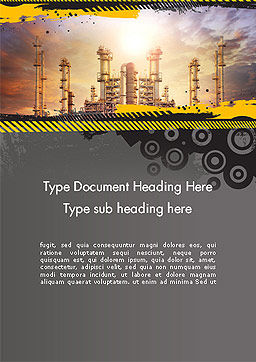 Exterior Tube of Petrochemical Plant Word Template, Cover Page, 14384, Utilities/Industrial — PoweredTemplate.com