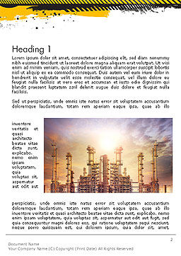 Exterior Tube of Petrochemical Plant Word Template, First Inner Page, 14384, Utilities/Industrial — PoweredTemplate.com