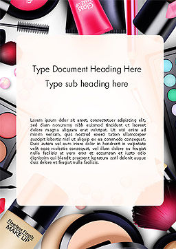 Sets of Cosmetics Word Template, Cover Page, 14390, Careers/Industry — PoweredTemplate.com