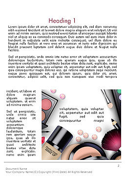 Sets of Cosmetics Word Template First Inner Page
