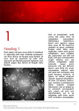 Hexagonal Network Abstract Word Template, First Inner Page, 14394, Technology, Science & Computers — PoweredTemplate.com