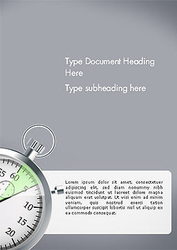 Stopwatch with Five Seconds Period Word Template, Cover Page, 14398, Business Concepts — PoweredTemplate.com