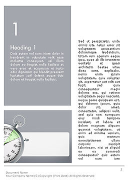 Stopwatch with Five Seconds Period Word Template, First Inner Page, 14398, Business Concepts — PoweredTemplate.com