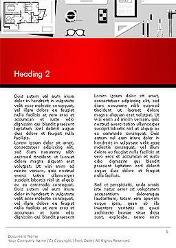 Construction Engineer Desktop Word Template, Second Inner Page, 14399, Construction — PoweredTemplate.com