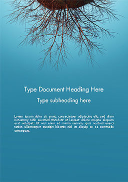 Plant Roots Word Template, Cover Page, 14403, Agriculture and Animals — PoweredTemplate.com