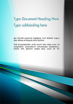 Abstract Geometric Futuristic Word Template, Cover Page, 14406, 3D — PoweredTemplate.com
