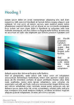 Abstract Geometric Futuristic Word Template, First Inner Page, 14406, 3D — PoweredTemplate.com
