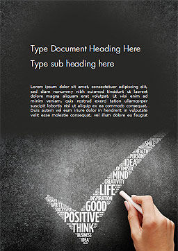 Hand Writing Motivation Words Word Template, Cover Page, 14411, Business Concepts — PoweredTemplate.com