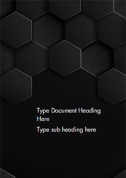 Mod le word de texture de fond hexagone noir 14414 for Fond de page word gratuit