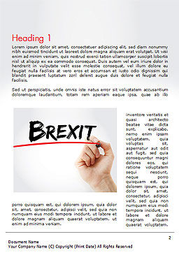 Hand Writing Brexit with Marker Word Template First Inner Page