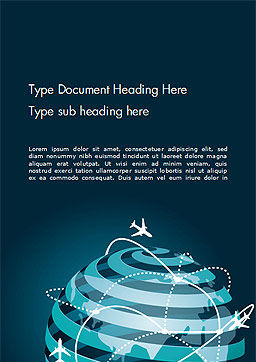 Airplane Connections Network Word Template Cover Page