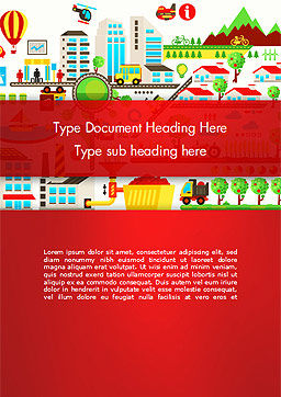 Colorful Ecology Infographic Background Word Template, Cover Page, 14432, Nature & Environment — PoweredTemplate.com