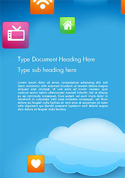 Hybrid Cloud Storage Word Template, Cover Page, 14433, Technology, Science & Computers — PoweredTemplate.com