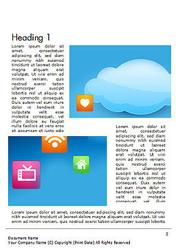 Hybrid Cloud Storage Word Template, First Inner Page, 14433, Technology, Science & Computers — PoweredTemplate.com