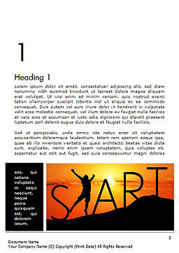 Start Concept on Sunset Silhouette Word Template, First Inner Page, 14434, Careers/Industry — PoweredTemplate.com