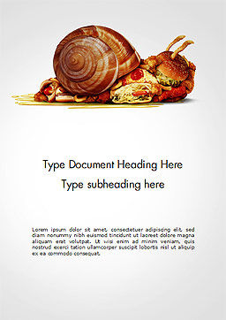 Sluggish Diet Word Template Cover Page