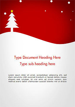 Christmas Day Background Word Template, Cover Page, 14437, Holiday/Special Occasion — PoweredTemplate.com