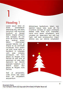 Christmas Day Background Word Template, First Inner Page, 14437, Holiday/Special Occasion — PoweredTemplate.com