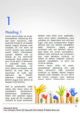 School Life Word Template First Inner Page