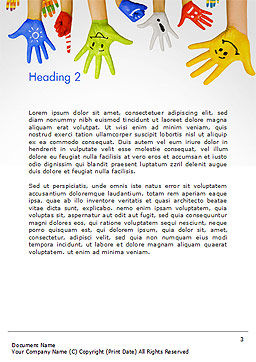 School Life Word Template Second Inner Page