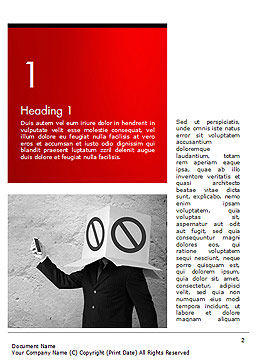 Ad Blocking Word Template, First Inner Page, 14442, Business Concepts — PoweredTemplate.com
