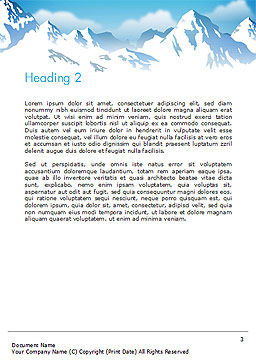 Snowy Mountains Word Template Second Inner Page