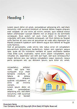 House From Sketch to Colorful Reality Word Template, First Inner Page, 14455, Construction — PoweredTemplate.com