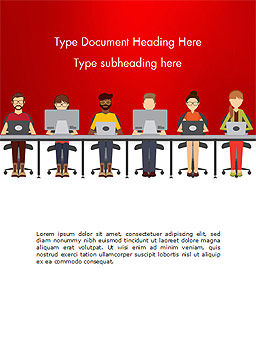 Coworking Office Space Word Template Cover Page