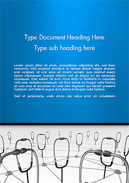 Doctor Network Word Template, Cover Page, 14460, Medical — PoweredTemplate.com