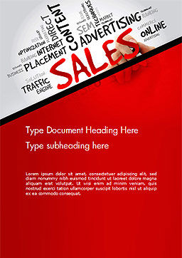 Sales Word Cloud Word Template, Cover Page, 14468, Consulting — PoweredTemplate.com
