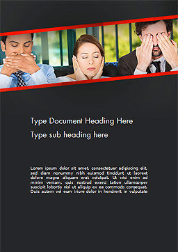 Communication Problem Word Template, Cover Page, 14473, Business Concepts — PoweredTemplate.com