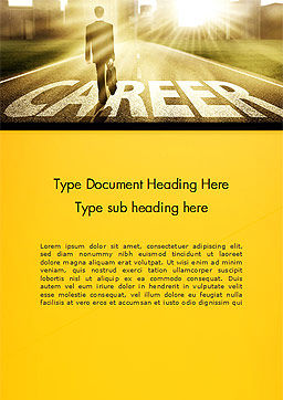 Businessman Walking on Great Career Path Word Template Cover Page