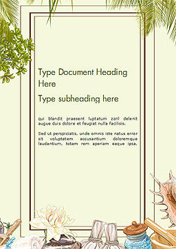 Spa Therapy Frame Word Template Cover Page