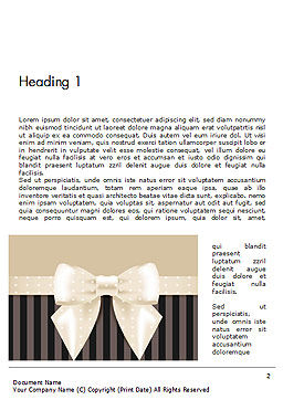 Ornate Beige Ribbon and Elegant Bow Word Template, First Inner Page, 14484, Holiday/Special Occasion — PoweredTemplate.com
