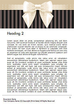 Ornate Beige Ribbon and Elegant Bow Word Template, Second Inner Page, 14484, Holiday/Special Occasion — PoweredTemplate.com