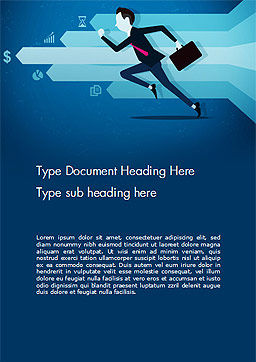 Competitive Business Word Template, Cover Page, 14488, Business Concepts — PoweredTemplate.com
