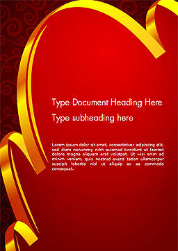 Ornamental Background with Golden Wave Word Template, Cover Page, 14494, Holiday/Special Occasion — PoweredTemplate.com
