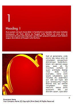 Ornamental Background with Golden Wave Word Template, First Inner Page, 14494, Holiday/Special Occasion — PoweredTemplate.com