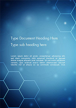 Blue Hive Background Abstract Word Template, Cover Page, 14495, Technology, Science & Computers — PoweredTemplate.com
